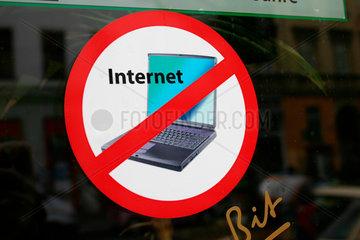 Internet Verbotsschild