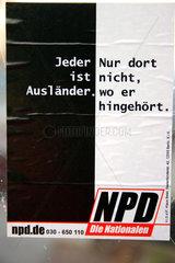 Berlin - NPD Hetze gegen Auslaender