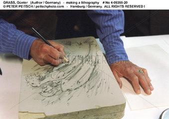 GRASS  Guenter - Erstellt eine Lithographie