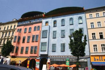 Bunte Fassade in Berlin