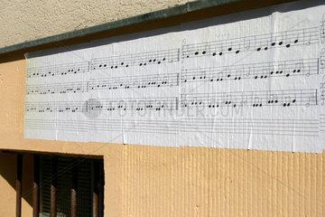 Notenblatt Street art