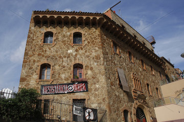 besetzte Festung Kasa de la Muntanya in in Barcelona