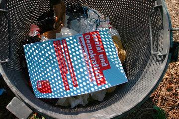 Weggeworfen SPD Regierungsprogramms