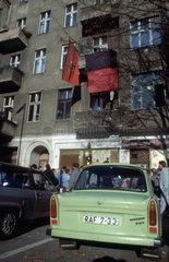 Ost und West Berliner Wendezeit