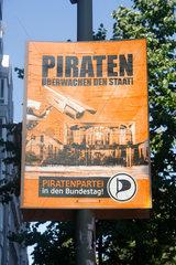 Piratenpartei Wahlplakat