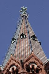 Dach der Passionskirche in Berlin