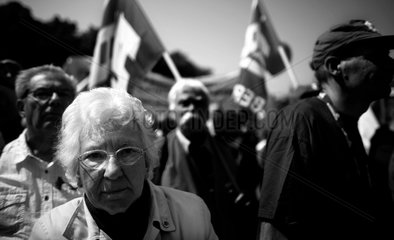 Soziale Unruhe Demonstration des DGB