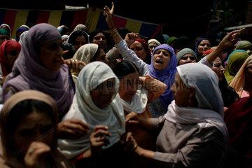 Trauerfeier fuer einen getoeteten militanten Mudschaheddin
