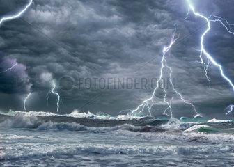 Himmel und Blitze  Montage  (M)