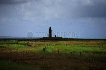 Lighthouse on the Halligen Langeness