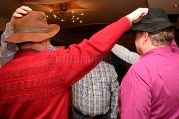 Men at a birthday party