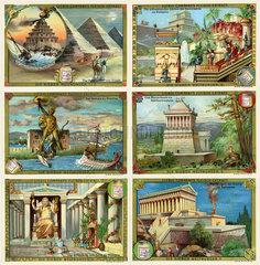 Die sieben Weltwunder  Liebigbilder  1895