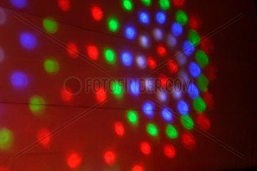 Farben von Discobeleuchtung