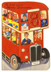 britische Geburtstags-Karte  1947