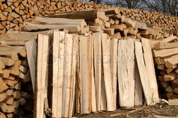 Wintervorrat Meterscheiter Brennholz