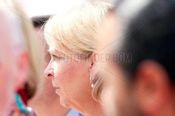 Hannelore Kraft Ministerpraedidentin von Nordrheinwestfalen 1.Mai 2014 DGB-Kundgebung in Duesseldorf Deutschland