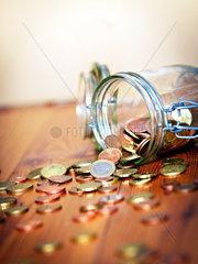 Notgroschen Euro Muenzen Kleingeld