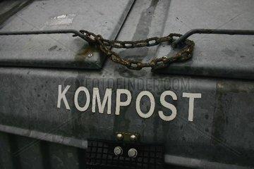 Kompost Container verschlossen