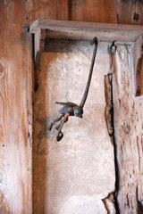 Teufelchen in Fliegengestalt in der Lutherstube auf der Wartburg bei Eisenach.