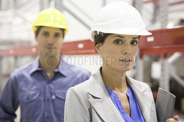 Female supervisor at industrial site  portrait