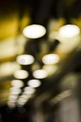 Blurred outdoor lighting