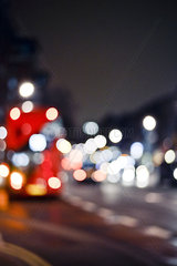 City street at night  defocused