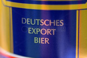 Bier Dose mit deutschem Export - Bier.
