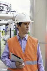 Worker at industrial site