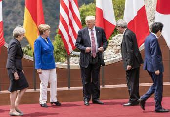 May + Merkel + Trump + Gentiloni + Abe