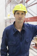 Worker in warehouse  portrait