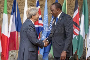 Gentiloni + Kenyatta