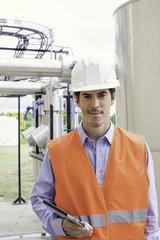 Engineer at industrial site