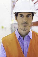 Industrial plant technician  portrait