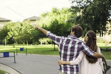 Couple enjoying walk together
