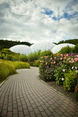 Geodesic biodomes  Eden Project  Cornwall  England