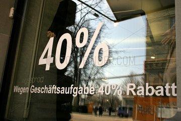 Geschaeftsaufloesung mit 40% Rabatt