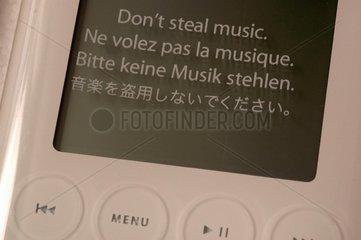 Bitte keine Musik stehlen.