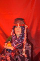 Wahrsagerin (Puppe) in einem Museum.