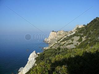 Aegaen sea greek island Skiathos Kastro
