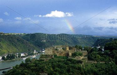 Burg Rheinfels bei St. Goar  Rheinland-Pfalz  Deutschland  Europa