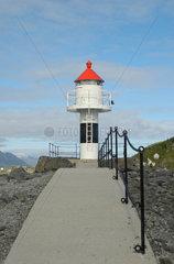 Leuchtturm auf den Lofoten in Norwegen.