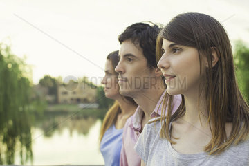 Tourists admiring view at scenic location