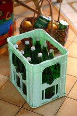 Wasser in Pfandflaschen.