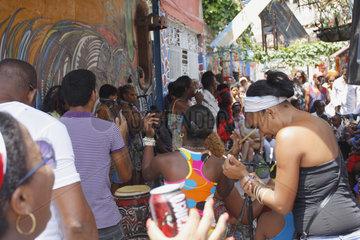 Afrocubanische fest in der Callejón de Hamel