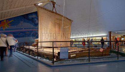 Die Original Kon-Tiki im Kontiki Museum in Oslo  Norwegen.