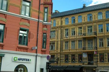 Schoene Haeuser in der Innenstadt von Oslo  Norwegen.