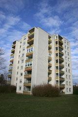 Ein 8-stoeckiges Wohnhaus in Deutschland  Baden-Wuerttemberg.