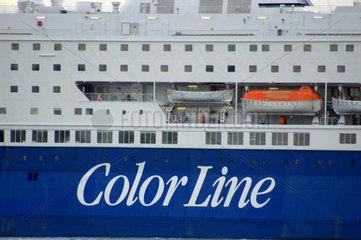 Color Line (ColorLine)-Faehrschiff Detail.