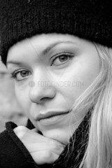 Junge Frau  Portrait (Winter).