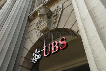 UBS-Hauptsitz in Zuerich an der Bahnhofstrasse